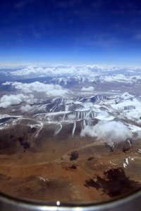 Ladakh through the plane window
