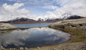 Reflections on Pangong Lake