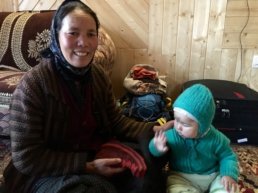 Hostess (Ammalay) with her grandson at the home stay